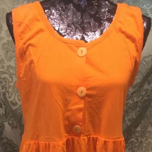 Victoria's Secret Orange Tank Maxi-Dress, L
